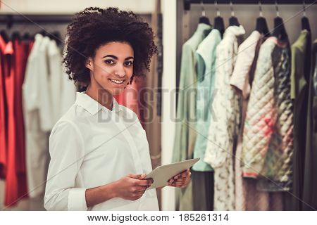 Afro American Sales Assistant