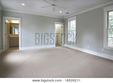 empty bedroom suite, place own furniture