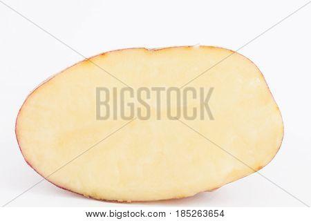 Potato (Solanum tuberosum) isolated in white background