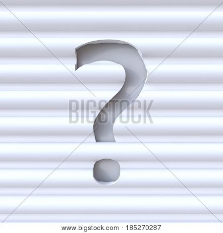 Cut Out Font In Wave Surface Punctuation Mark Question Mark 3D