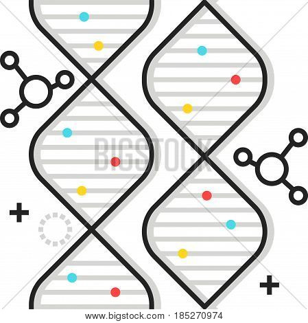 Color Box Gene Icon, Background And Graphics