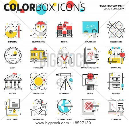 Color Box Icons, Education Icons, Backgrounds And Graphics