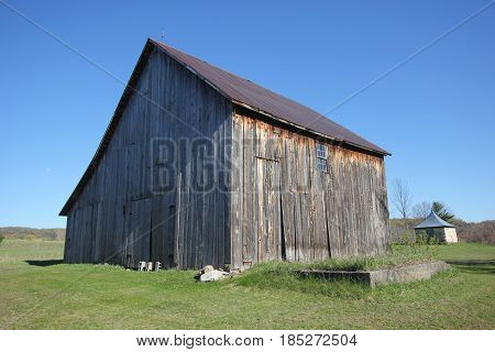 A wooden barn in Sleeping Bear Dunes National Lakeshore, Michigan