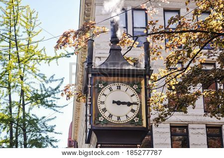 Steam Clock at Gastown Vancouver, BC Canada