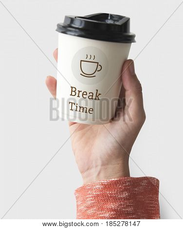 Break Time Sip Coffee Concept