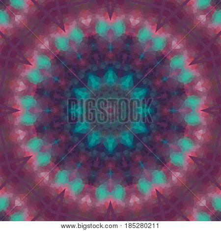 Seamless kaleidoscope mandala pattern  illustration, decoration, symmetry