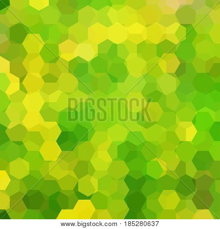 Abstract Background Consisting Of Green, Yellow Hexagons. Geometric Design For Business Presentation