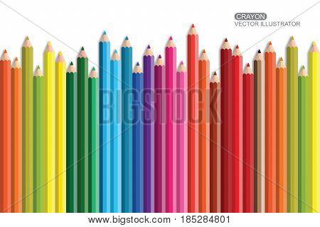 Crayon. Flat Design vector Eps 10 icon.