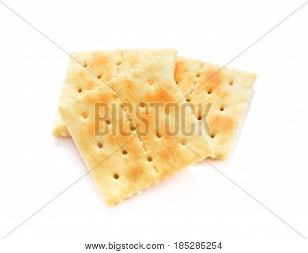 square salt crackers isolated on white background