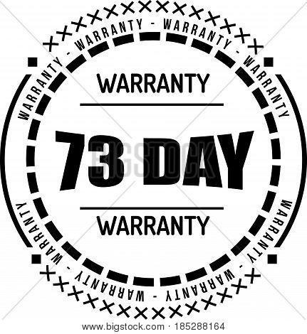 73 day warranty vintage grunge rubber stamp guarantee background poster