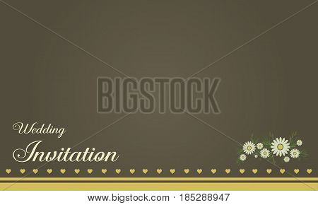 Collection stock of wedding card vector illustration