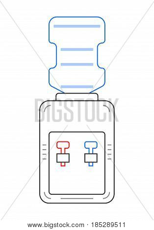 Cooler. Flat color icon of equipment for storage and heating of water