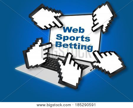 Web Sports Betting Concept