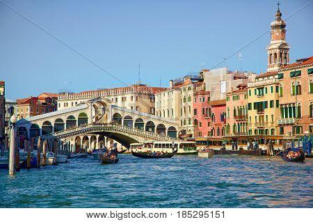 Bridge Ponte Rialto In Venice