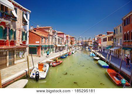 View On Rio Dei Vetrai In Murano, Italy