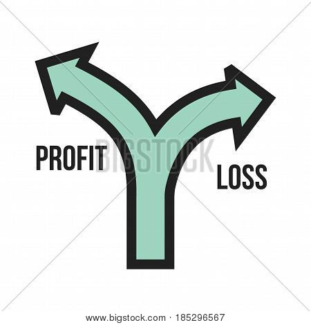 Profit, loss, economic icon vector image. Can also be used for business administration. Suitable for mobile apps, web apps and print media.