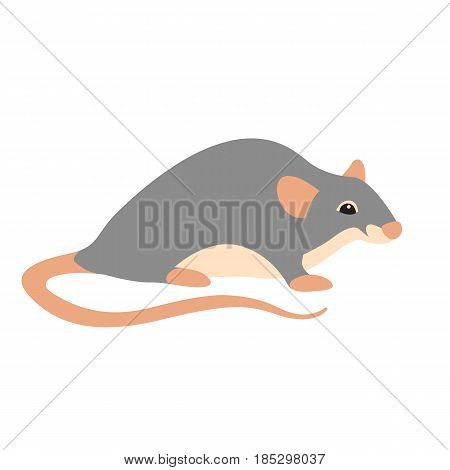 Rat vector illustration style Flat side profile