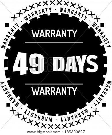 warranty 49 days vintage grunge black rubber stamp guarantee background