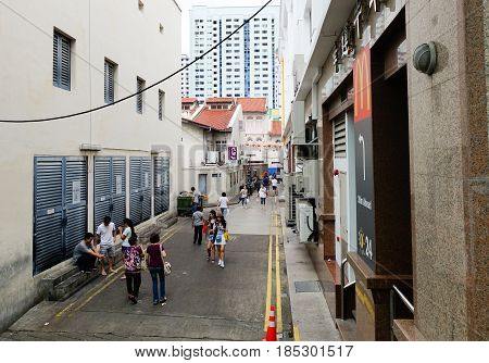 People Walking At Old Town In Singapore