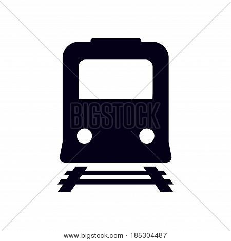 Train icon. Metro symbol. Railway station sign.