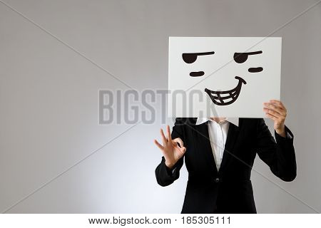 Proud Expression On Blank White Billboard