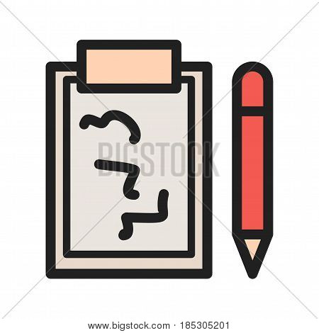 Write, note, information icon vector image. Can also be used for web interface. Suitable for mobile apps, web apps and print media.