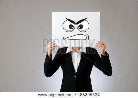 Holding A Blank White Billboard With Mad