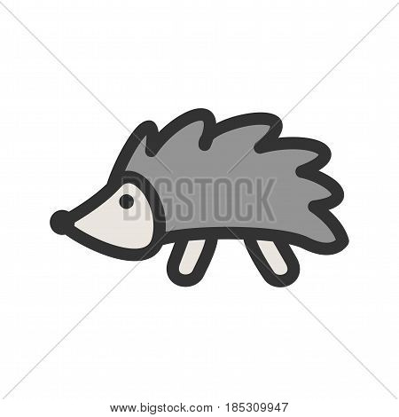 Hedgehog, cute, pet icon vector image. Can also be used for autumn. Suitable for mobile apps, web apps and print media.