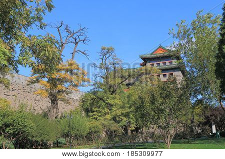 Ming Dynasty City Wall Relics park Beijing China