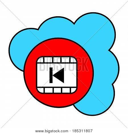 Flat Color Cloud Previous Icon