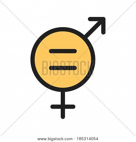 Equality, gender, female icon vector image. Can also be used for community. Suitable for mobile apps, web apps and print media.