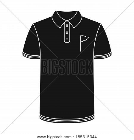 Uniform shirt for golf.Golf club single icon in black style vector symbol stock illustration .