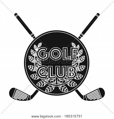 Emblem of the golf club.Golf club single icon in black style vector symbol stock illustration .