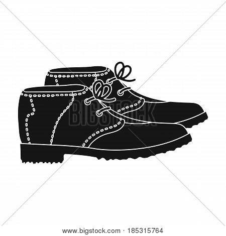 Golfer shoes.Golf club single icon in black style vector symbol stock illustration .