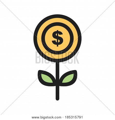 Coin, stack, money icon vector image. Can also be used for community. Suitable for mobile apps, web apps and print media.