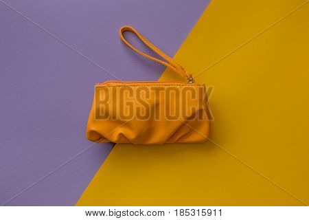 Small Beauty Bag On Colorful Background
