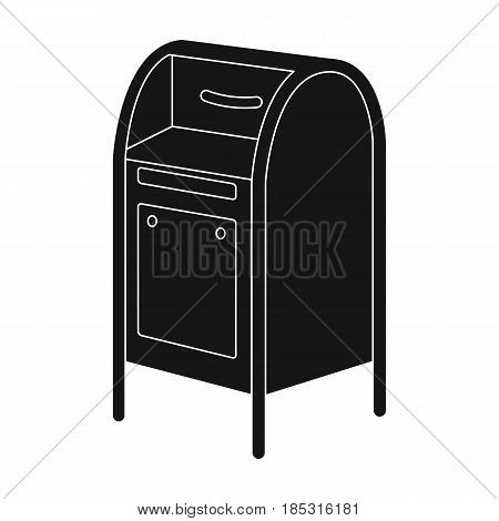 Mailbox.Mail and postman single icon in black style vector symbol stock illustration .