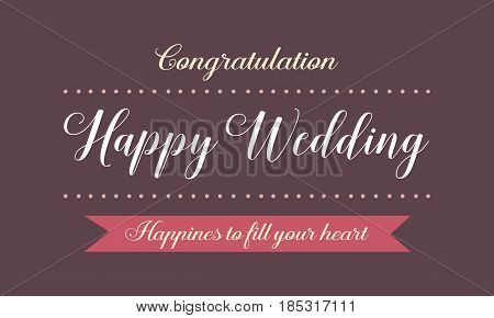 Happy wedding card design vector art collection stock