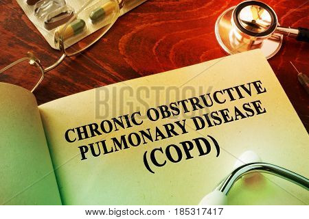 Book with title Chronic obstructive pulmonary disease (COPD).