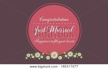 Collection stock of wedding greeting card vector illustration