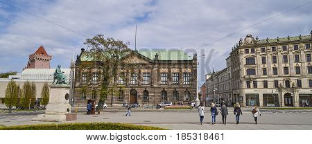 Poznan, Poland - April 29 2017: National Museum On 29 April 2017