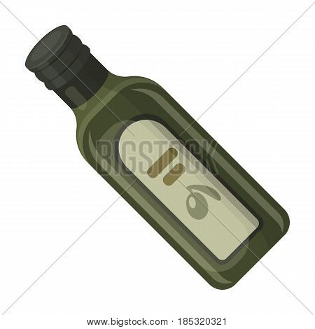 A bottle of olive oil.Olives single icon in cartoon style vector symbol stock illustration .