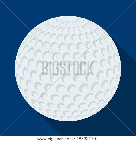 Golf ball.Golf club single icon in flat style vector symbol stock illustration .