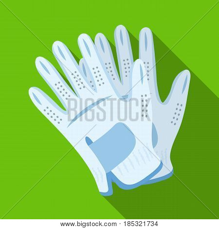 Golf gloves.Golf club single icon in flat style vector symbol stock illustration .