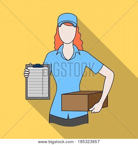 Postal courier.Mail and postman single icon in flat style vector symbol stock illustration .
