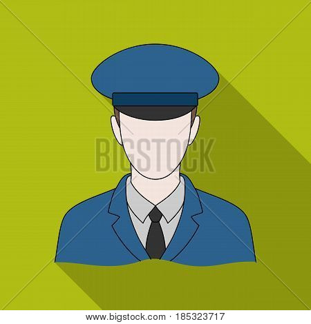 Postman.Mail and postman single icon in flat style vector symbol stock illustration .