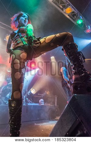 Cremona Italy. 6st May 2017. Italian gothic metal band Theatres des Vampires performs at Midian Live. Brambilla Simone Photography Live News