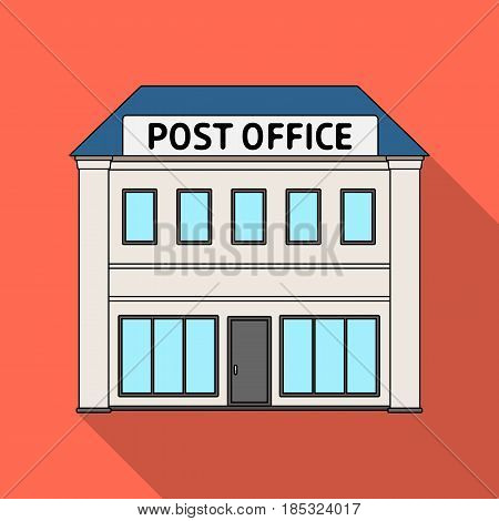 Post office.Mail and postman single icon in flat style vector symbol stock illustration .