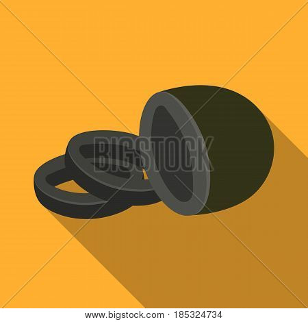 Black olive.Olives single icon in flat style vector symbol stock illustration .