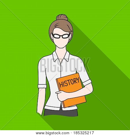 Teacher.Professions single icon in flat style vector symbol stock illustration .